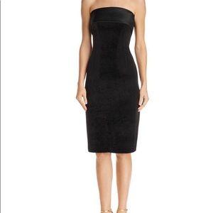 Eliza j black strapless Velvet dress